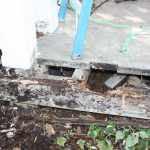 """When we inspected the porch, we found that the frame and some floor boards were damaged and very """"punky"""""""