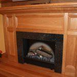 marble firebox wood hearth