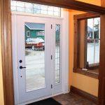 showroom interior wood screen door