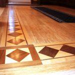 maple walnut floor borders